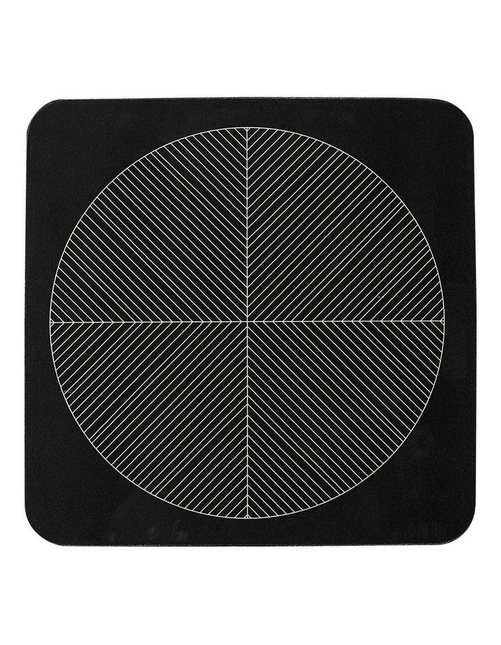 Tribal Hardboard 4pk Coasters Black image 1