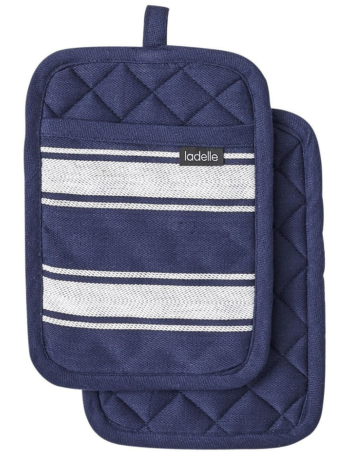 Butcher Stripe Series II Navy 2 Pack Pot Holder image 1