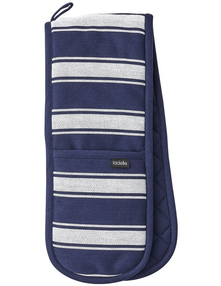 Butcher Stripe Series II Navy Double Oven Mitt image 1