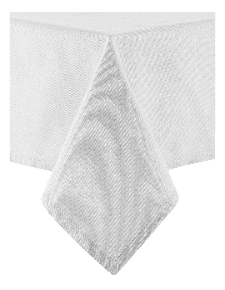 Linen Look 1.5x2.65M Tablecloth White image 1