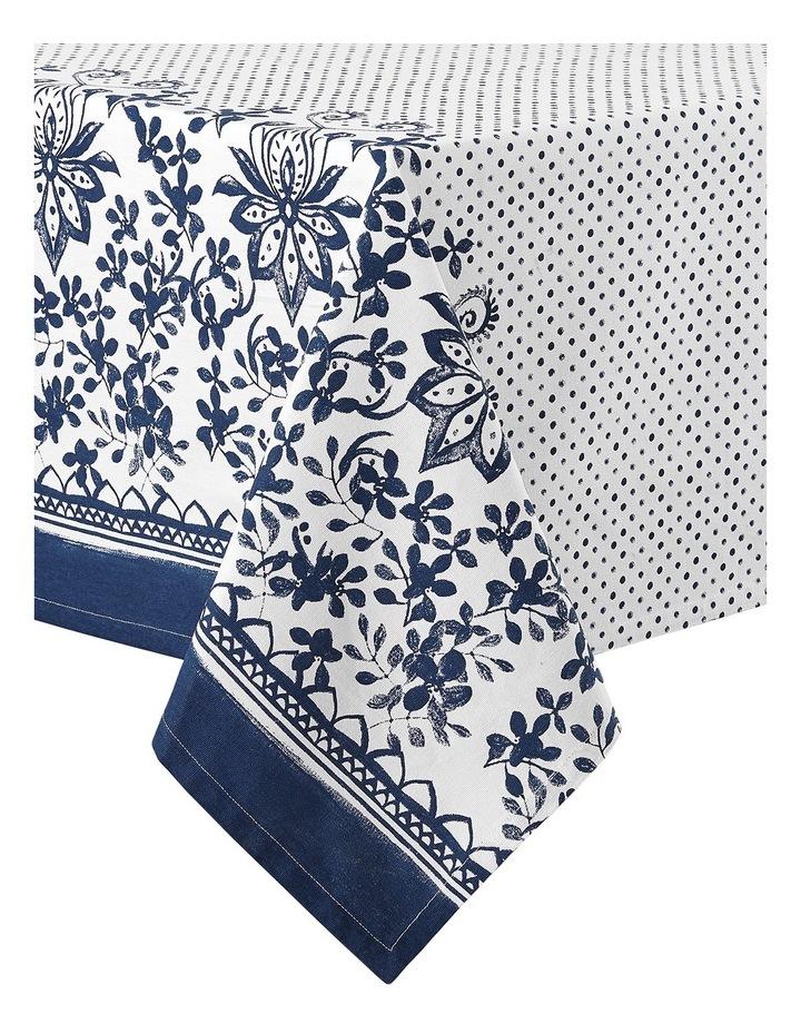 Watercolour Floral 1.5x2.65M Tablecloth Blue image 1