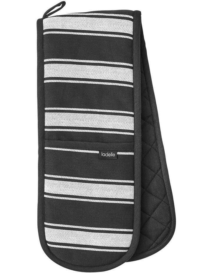 Butcher Stripe Series II Black Double Oven Mitt image 1
