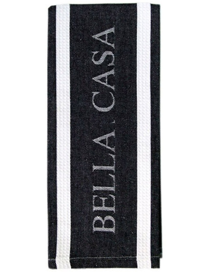 Bella Casa Black Kitchen Towel image 2