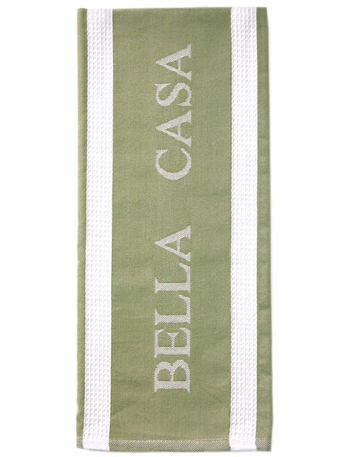Bella Casa Sage Kitchen Towel image 2