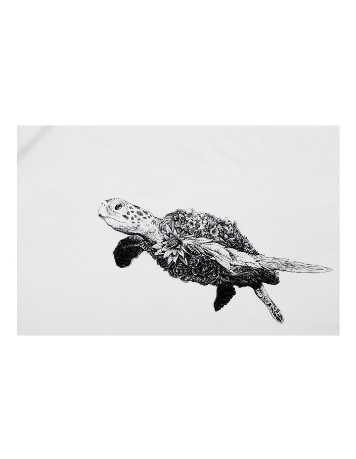Marini Ferlazzo Tea Towel 50x70cm Green Sea Turtle image 1