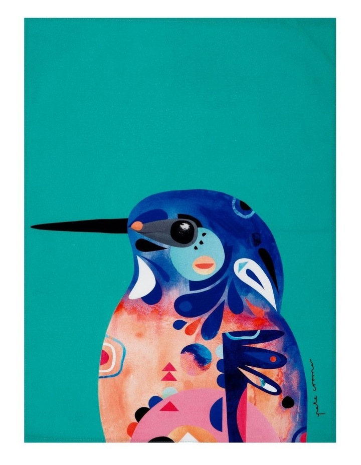 Pete Cromer Tea Towel 50x70cm Azure Kingfisher image 1