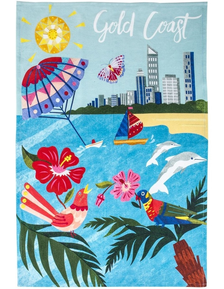 Gold Coast Tea Towel image 1