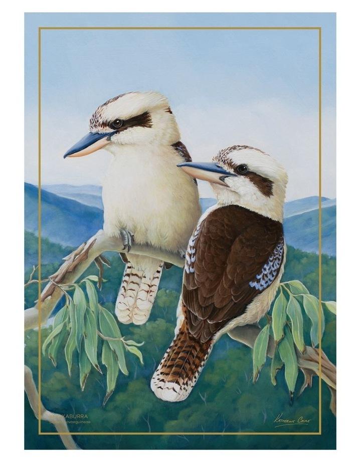 Birds of Australia KC 10yr Anniversary Tea Towel 50x70cm Kookaburra image 1