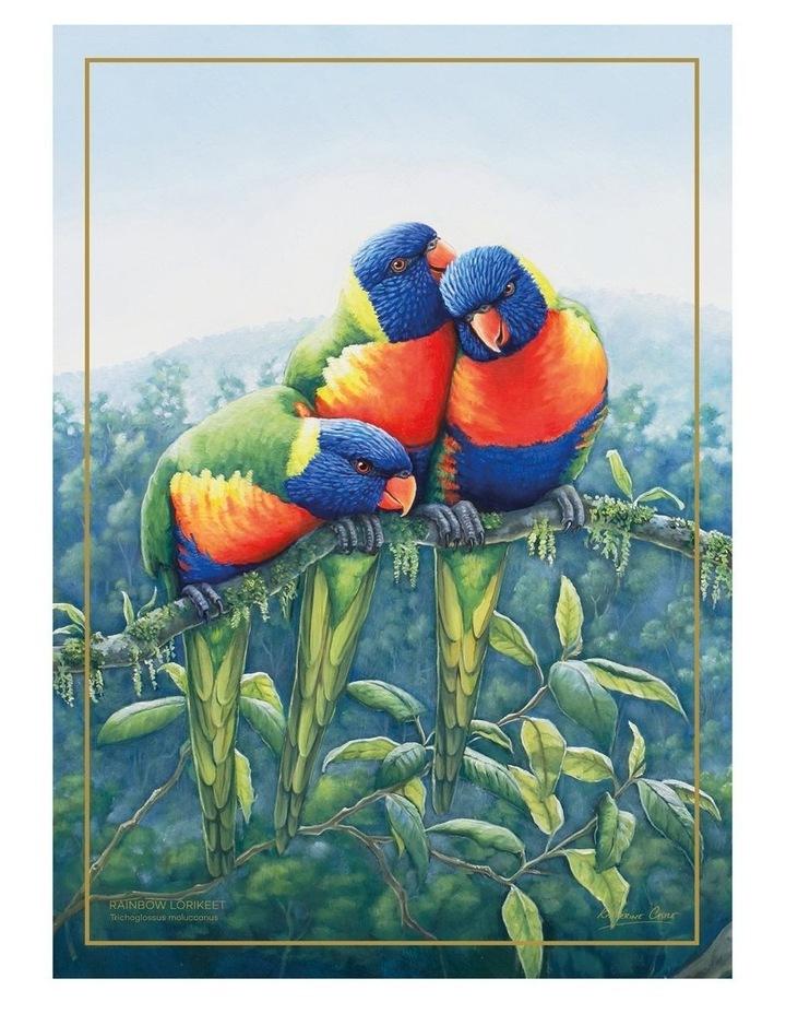 Birds of Australia KC 10yr Anniversary Tea Towel 50x70cm Lorikeet image 1