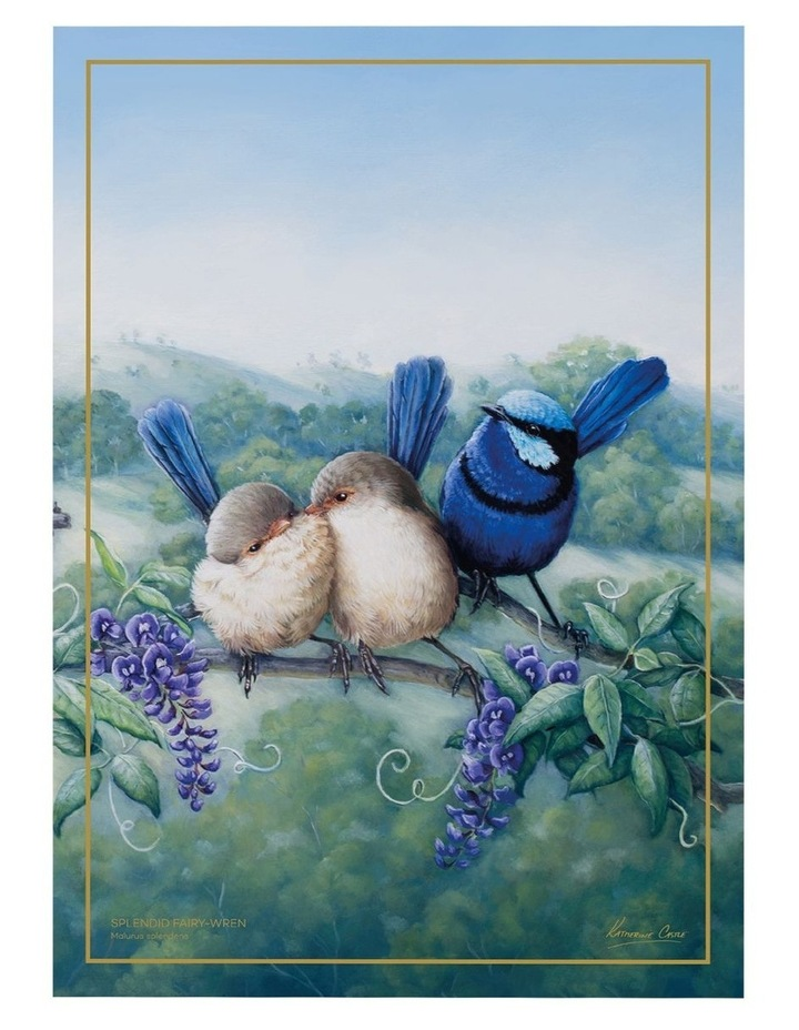Birds of Australia KC 10yr Anniversary Tea Towel 50x70cm Splendid Fairy Wren image 1