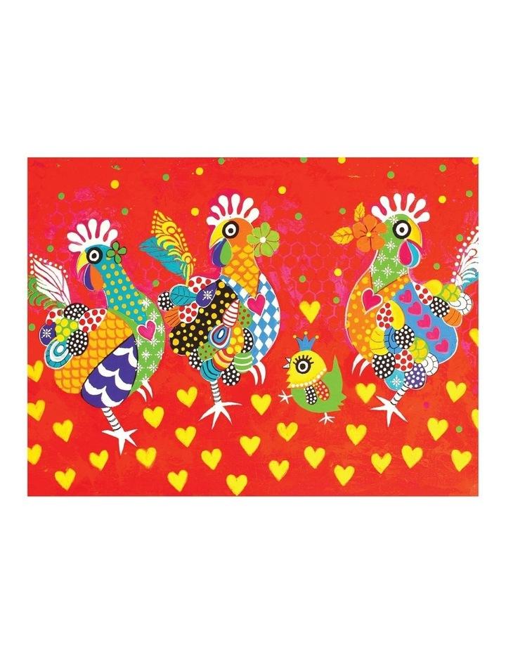 Love Hearts Tea Towel 50x70cm Chicken Dance image 1