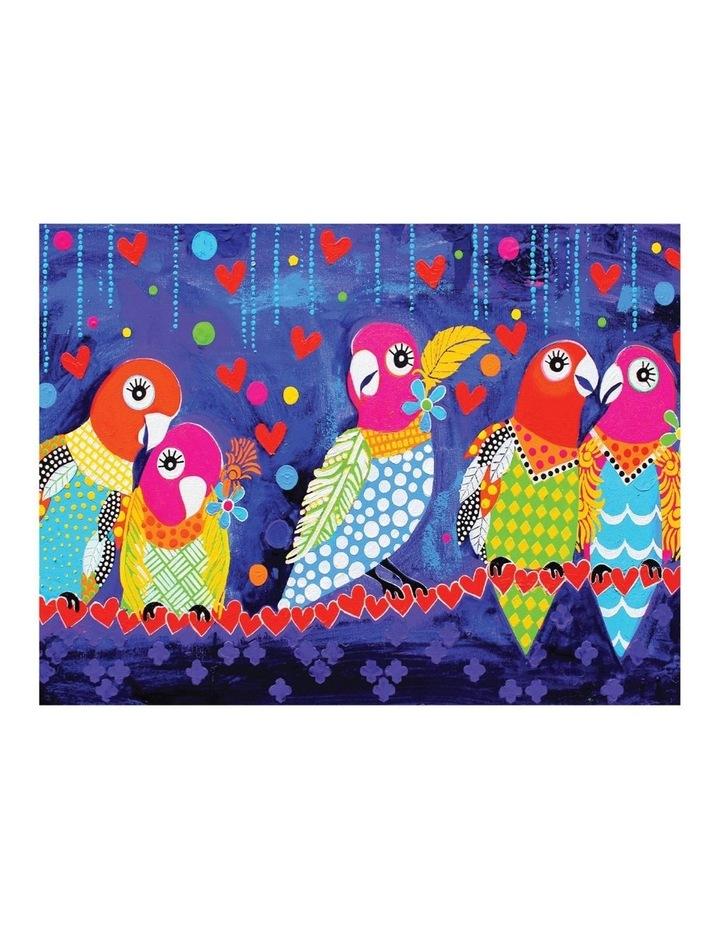 Love Hearts Tea Towel 50x70cm Love Birds image 1
