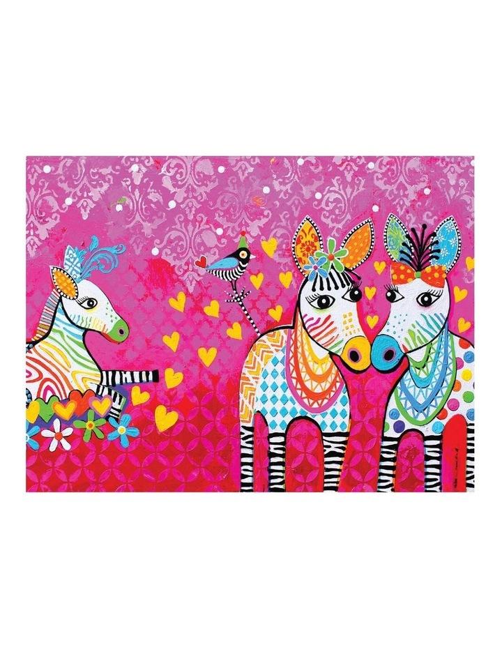 Love Hearts Tea Towel 50x70cm Zig Zag Zeb image 1