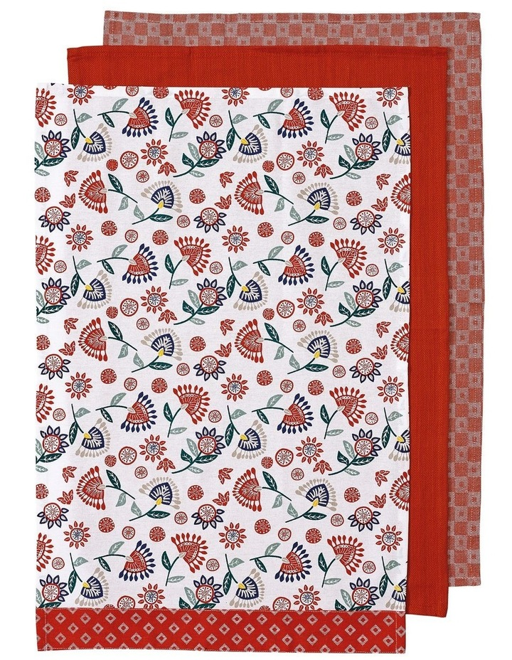 Cami Red 3pk Kitchen Towel image 1