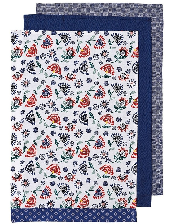 Cami Blue 3pk Kitchen Towel image 1