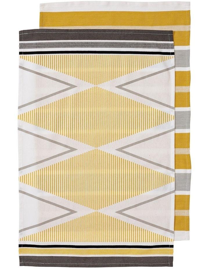 Emerson Yellow 2pk Kitchen Towel image 1