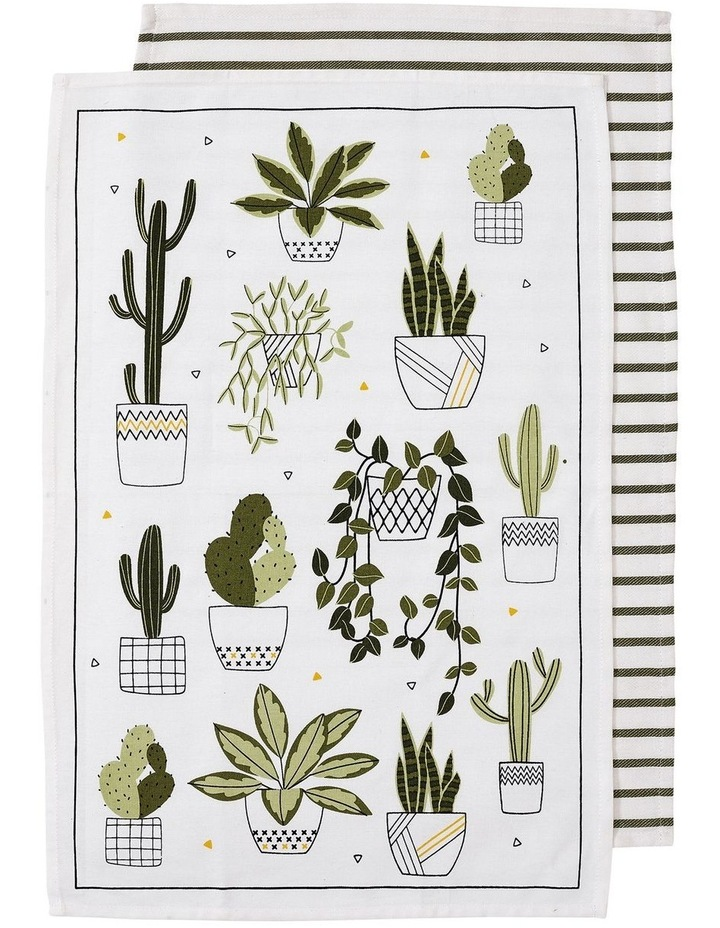 Green House 2pk Kitchen Towel Green image 1