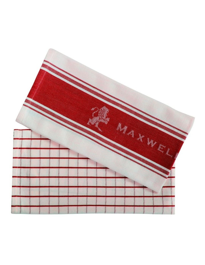 Epicurious Tea Towel 50x70cm Set of 2 Red image 1