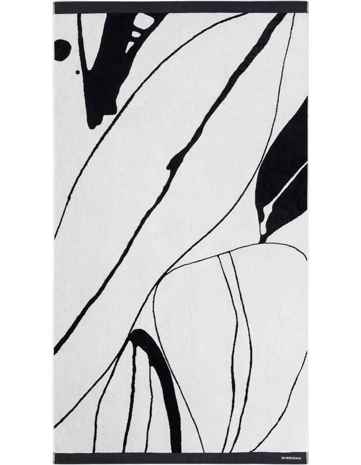 Solander Beach Towel in Black/White image 1