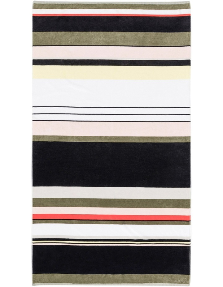Surftide Beach Towel in Assorted Carbon image 1