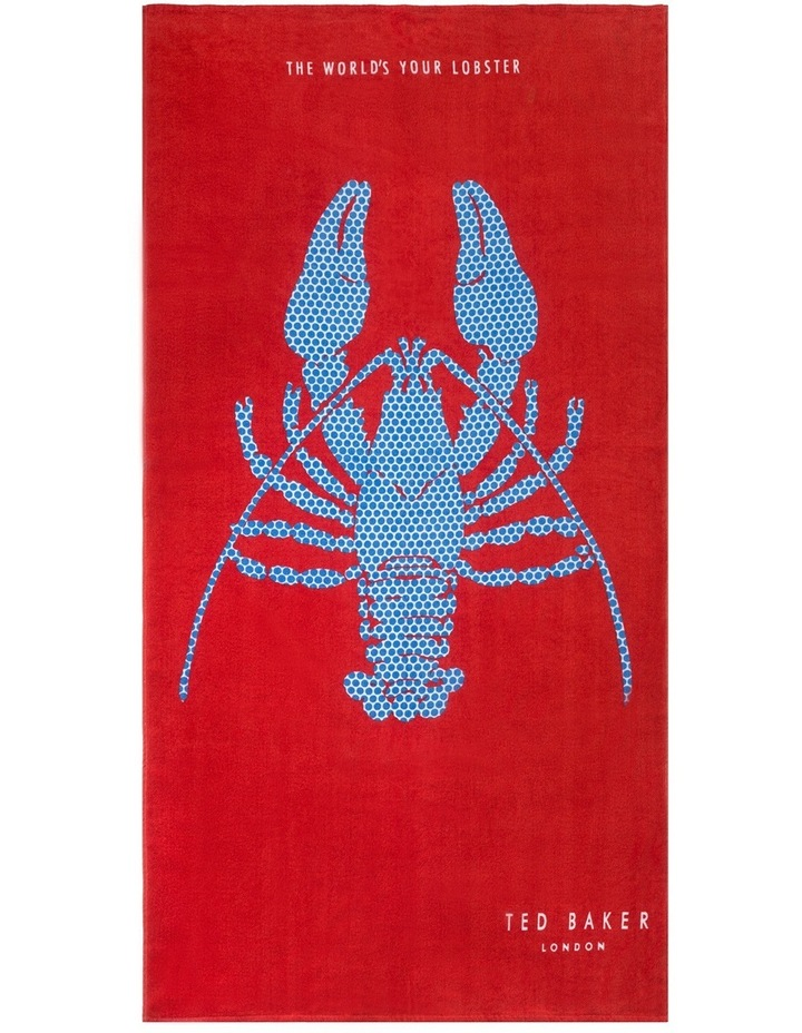 Lobster Beach Towel in Red image 1