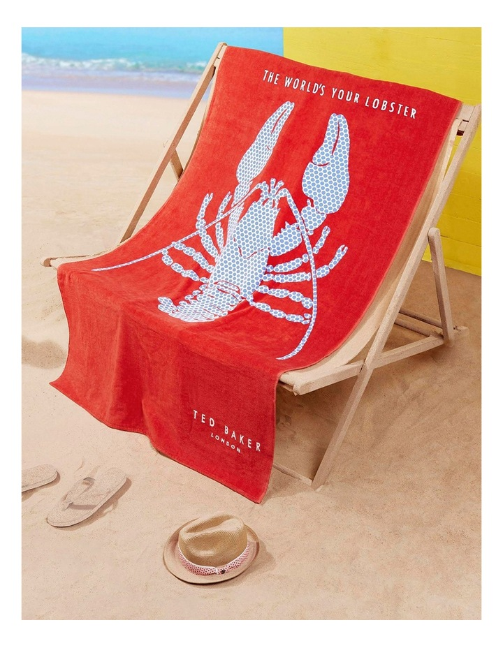 Lobster Beach Towel in Red image 2