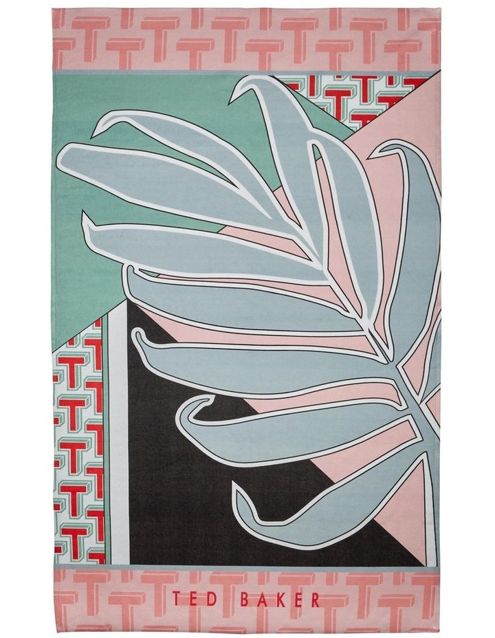 Palm Beach Towel in Pink image 1