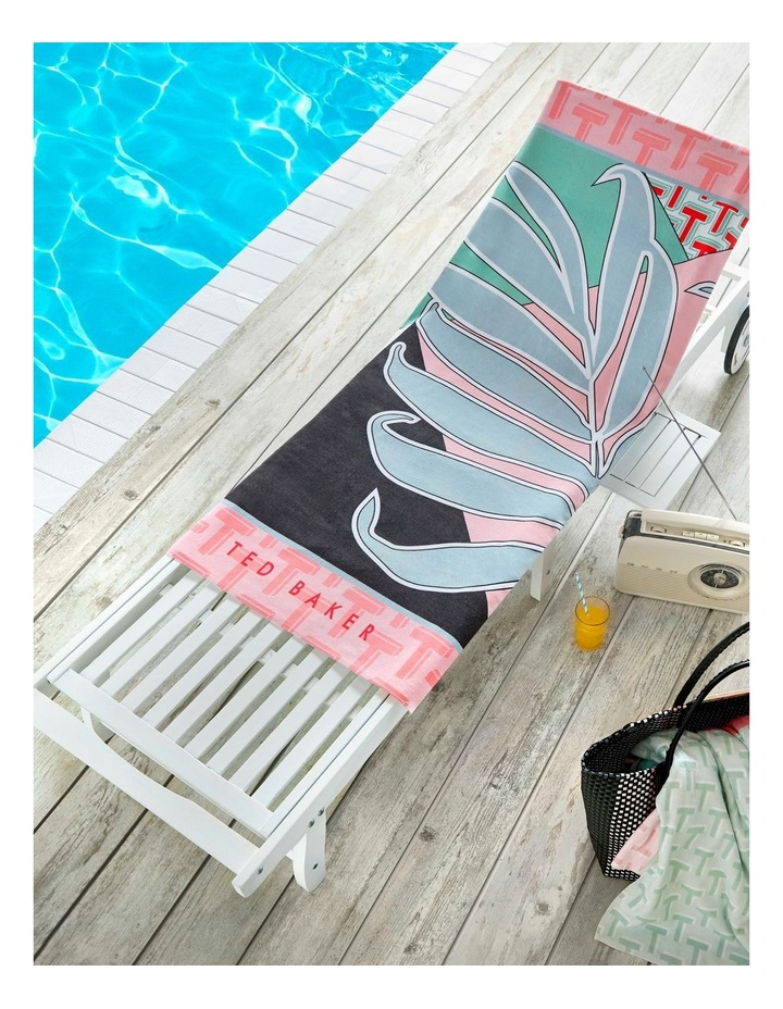 Palm Beach Towel in Pink image 2