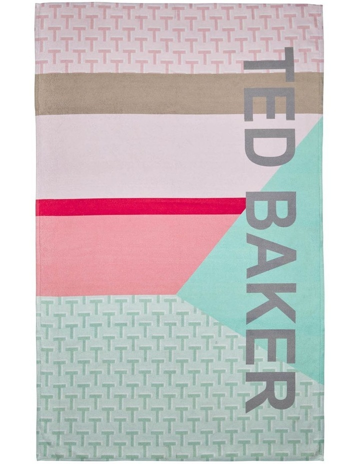 Ted Logo Beach Towel in Mint image 1