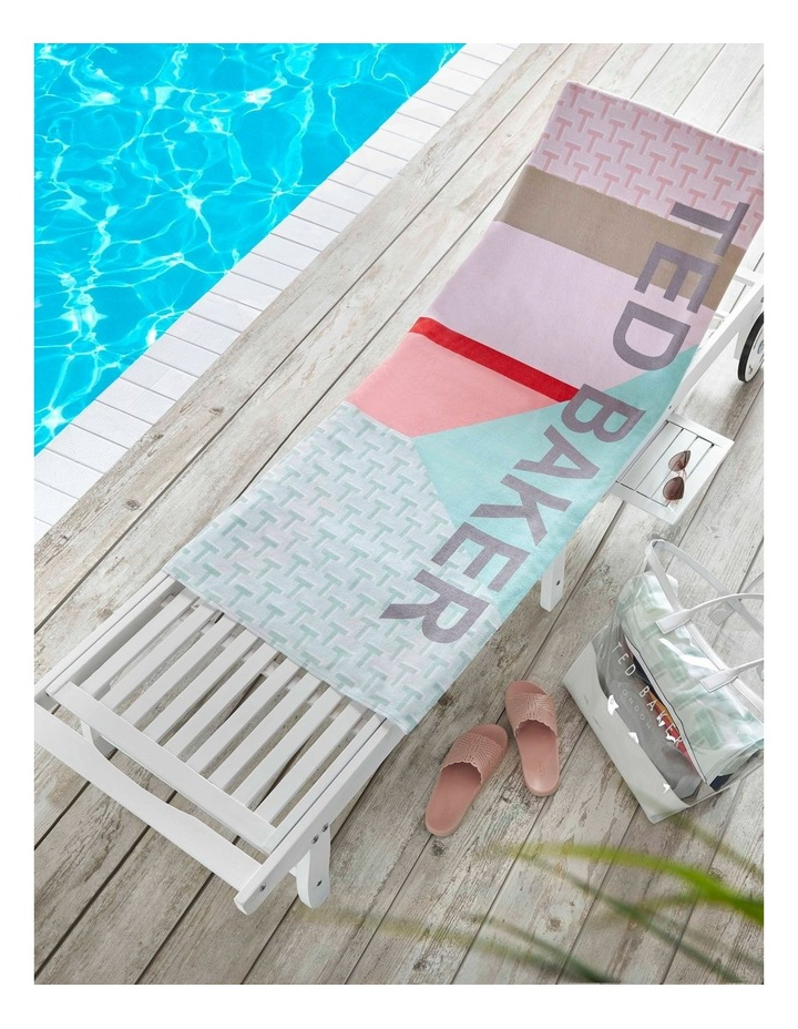 Ted Logo Beach Towel in Mint image 2