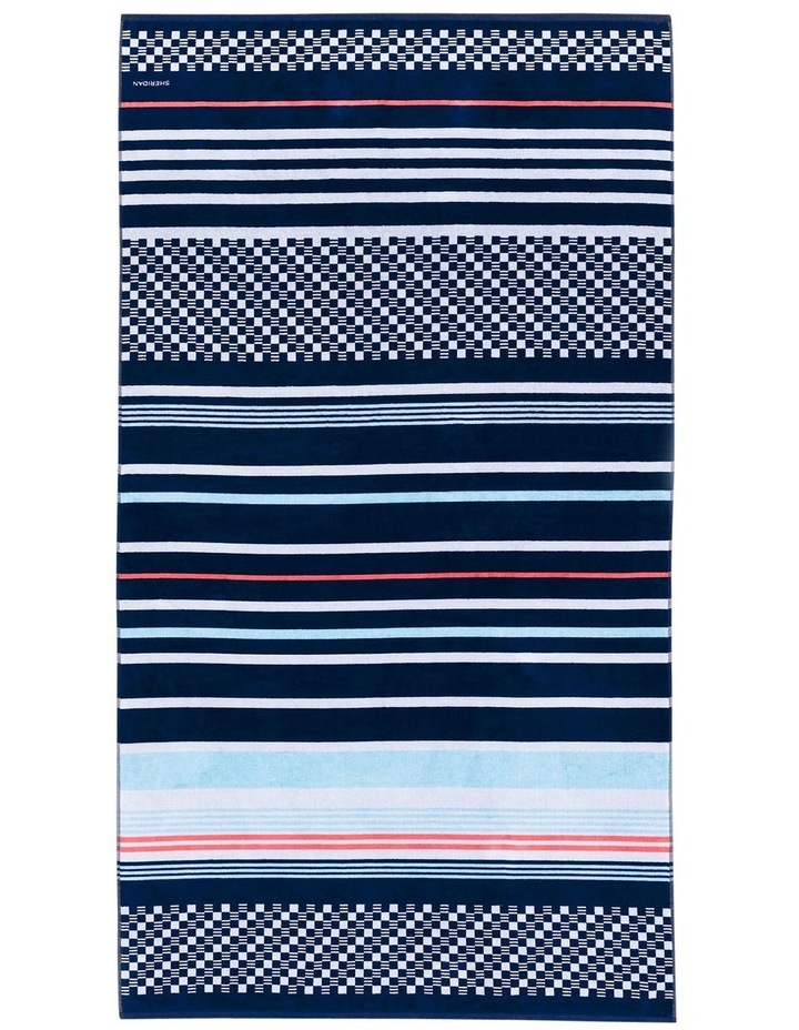 Harbourview Beach Towel in Midnight image 1