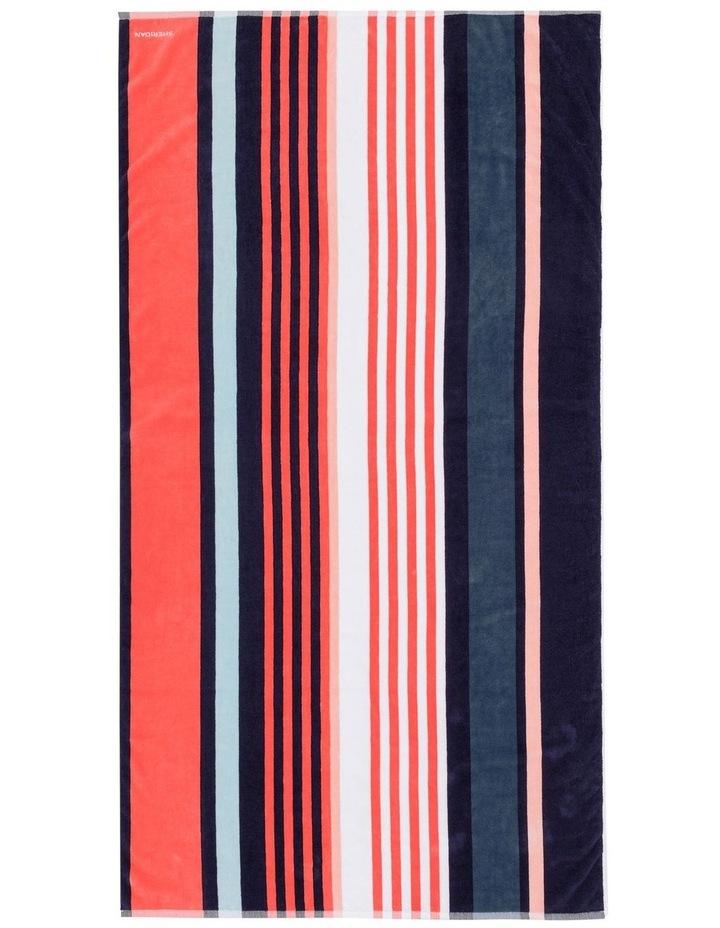 Longjetty Beach Towel in Neon Rose image 1
