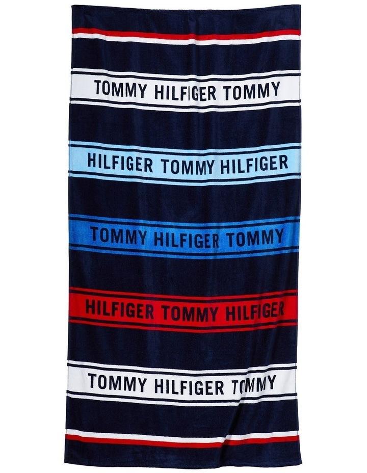 Tommy Hilfiger Multi Stripe Beach Towel in Multi image 1