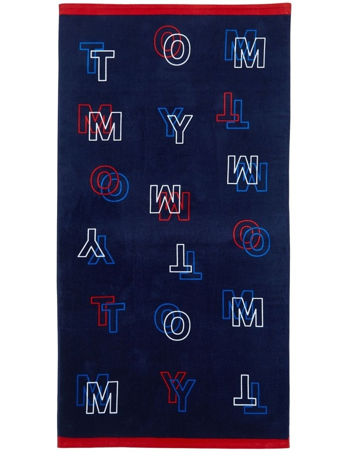 Tommy Optical Beach Towel image 1