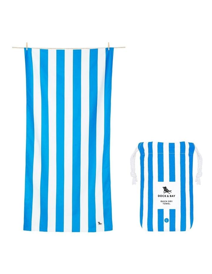 Cabana Beach Towel In Bondi Blue image 1