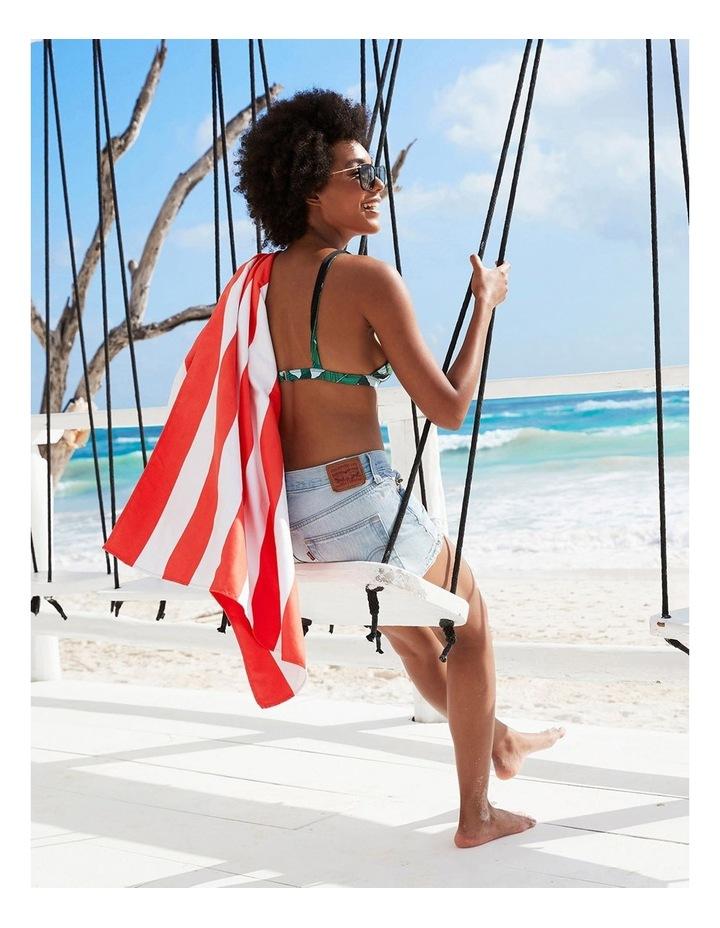 Cabana Beach Towel In Waikiki Coral image 3