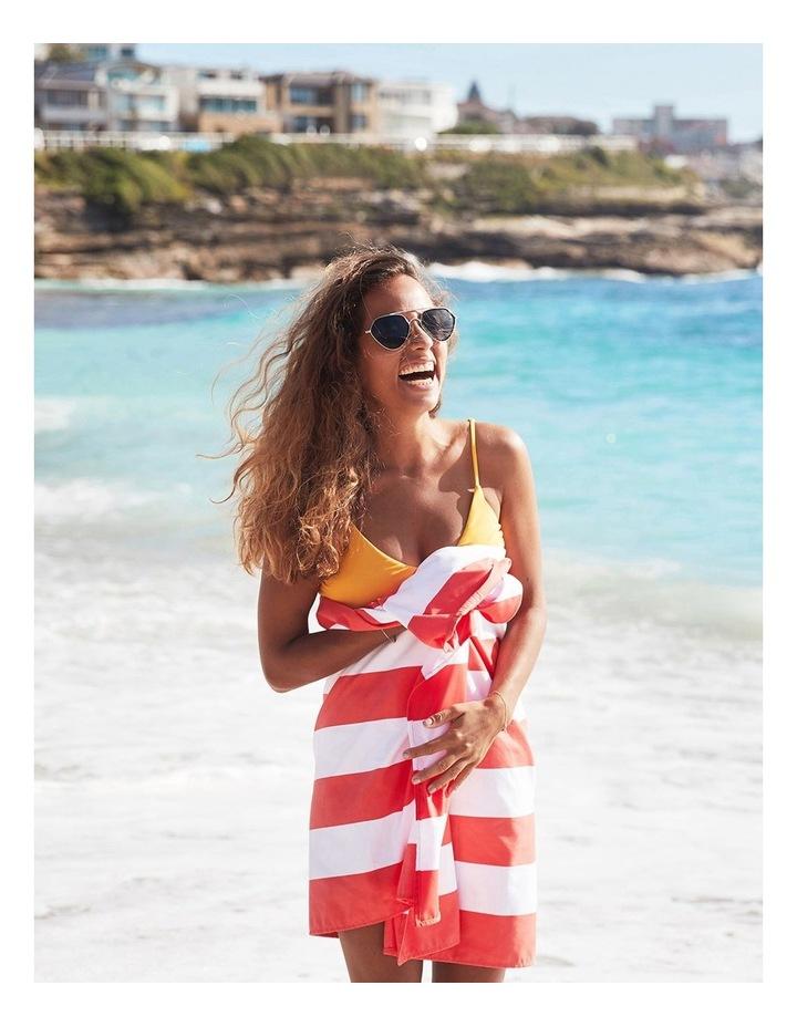 Cabana Beach Towel In Waikiki Coral image 4