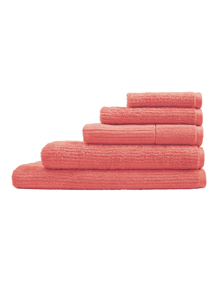 Living Textures Towel Range in Peach image 1