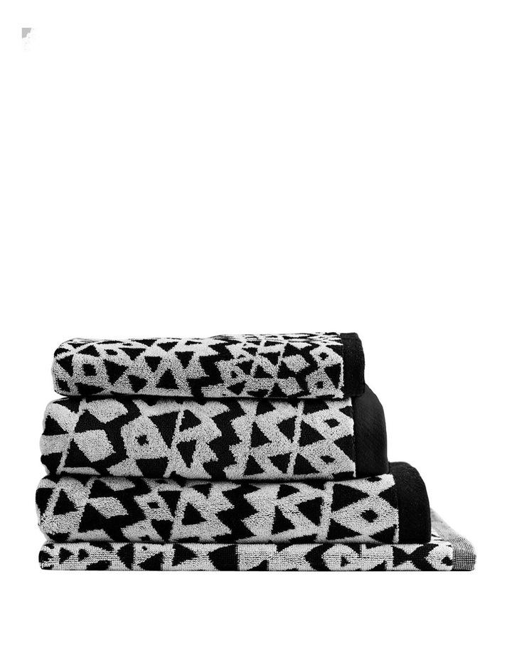 Inca Towel Range in Black image 1