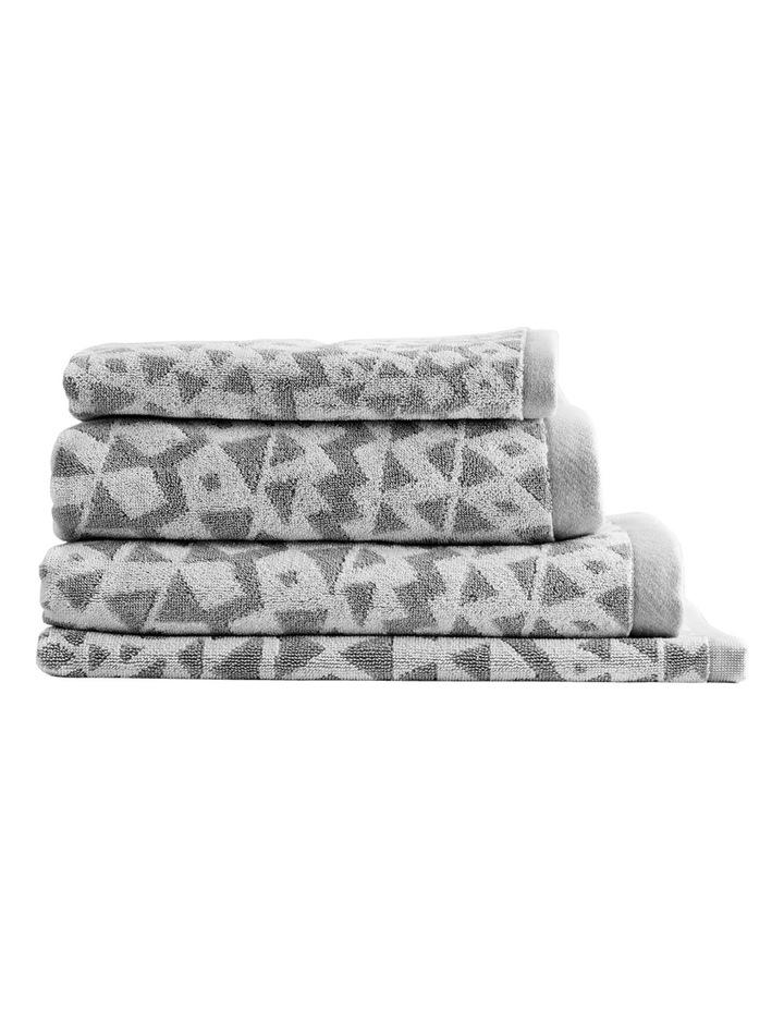 Inca Towel Range in Dove image 1