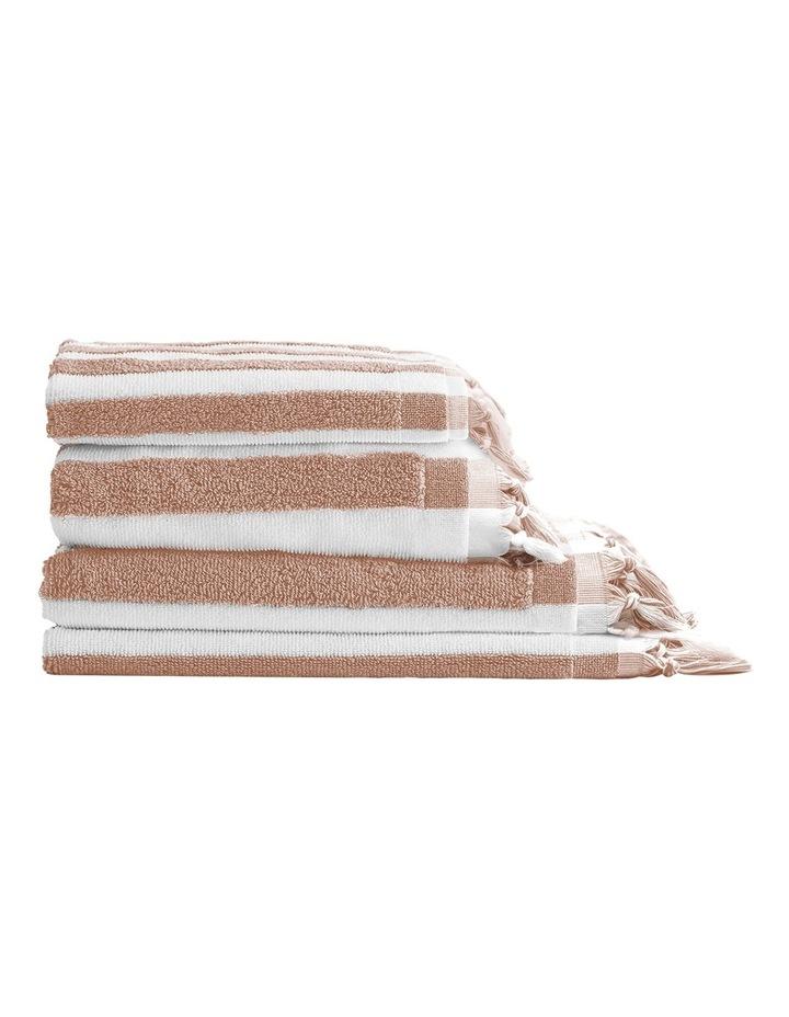 Aura Stripe Bath Towel: Blush image 1