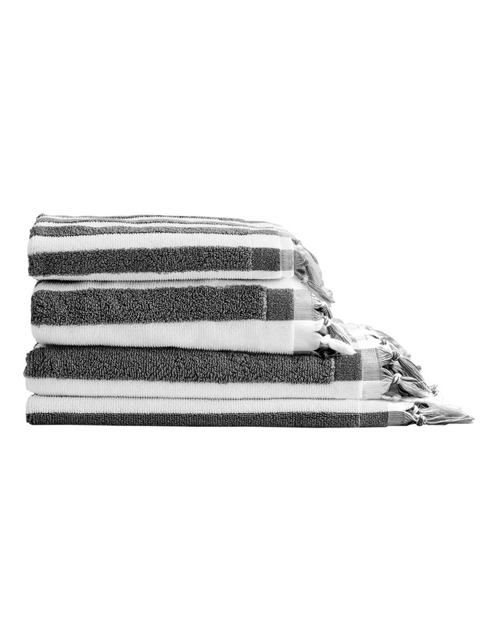 Aura Stripe Bath Towel: Smoke image 1