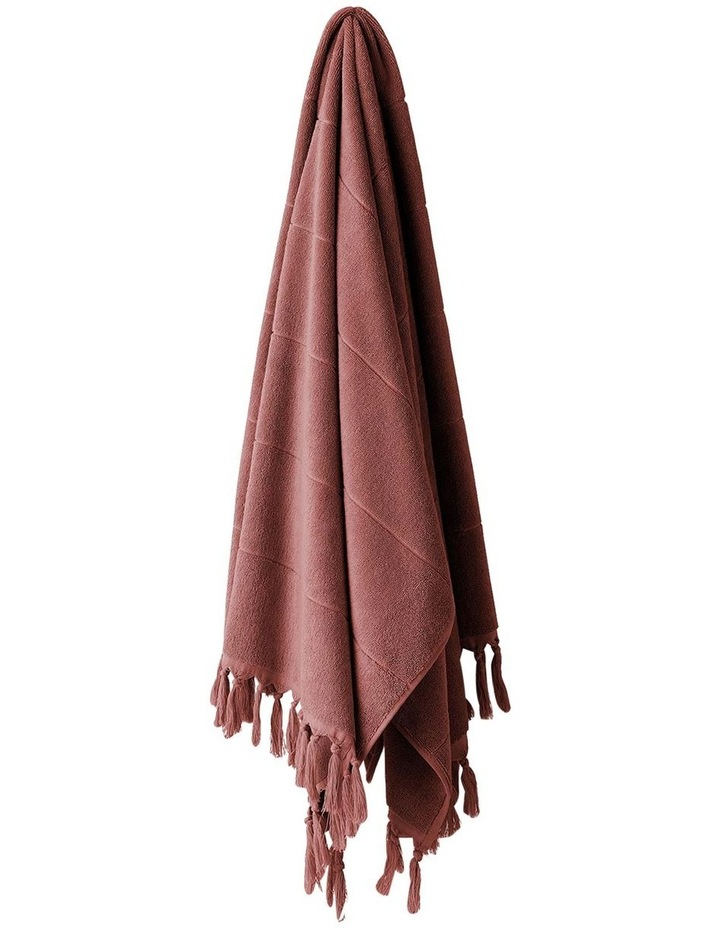 Paros Bath Towel Range in Mahogany Pink image 1