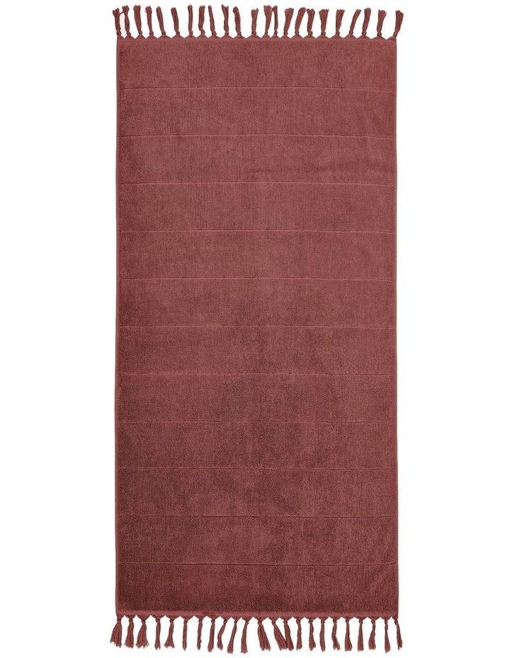 Paros Bath Towel Range in Mahogany Pink image 2