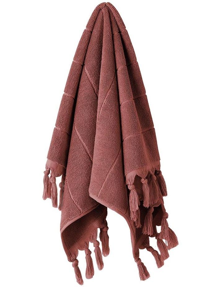 Paros Bath Towel Range in Mahogany Pink image 3