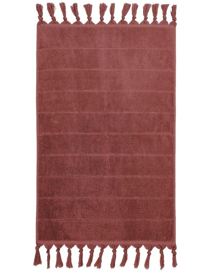 Paros Bath Towel Range in Mahogany Pink image 4