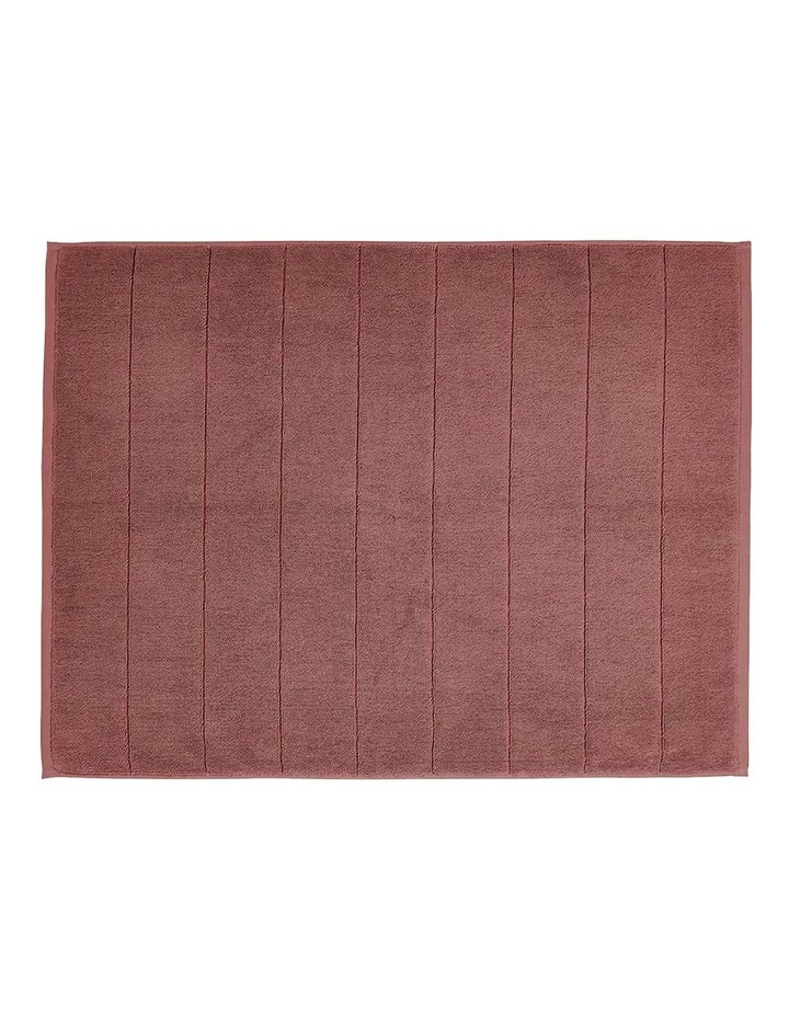 Paros Bath Towel Range in Mahogany Pink image 5