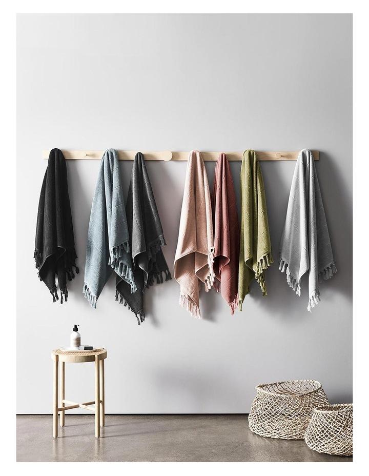Paros Bath Towel Range in Mahogany Pink image 6