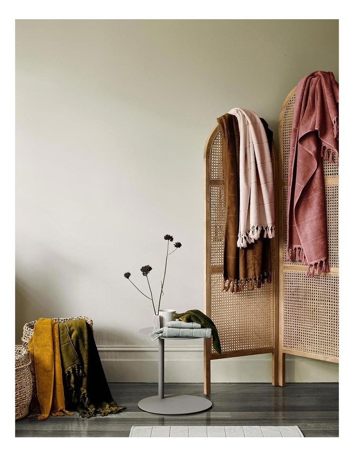 Paros Bath Towel Range in Mahogany Pink image 7