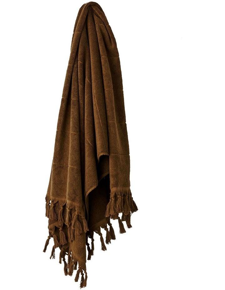 Paros Bath Towel Range in Tobacco image 1